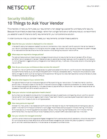 10 Things to ask Your Vender