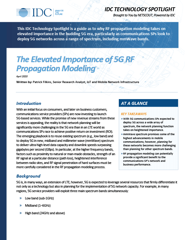 The Elevated Importance of 5G RF Propagation Modeling