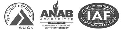 ISO 27001 Certification Logos