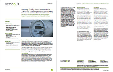 Assuring Quality Performance of the AMI with NETSCOUT