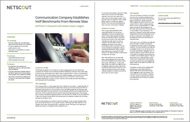 Communications Company Established VoIP Benchmarks from Remote Sites