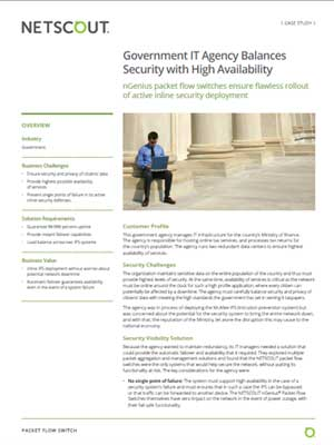 Government IT Agency Balances Security with High Availability