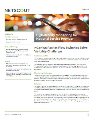 Case study: High-density monitoring for national service provider