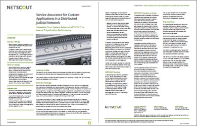 Service Assurance for Custom Applications in a Distributed Judicial Network
