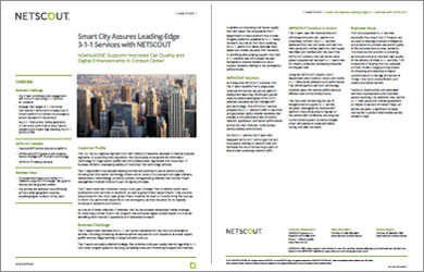 Smart City Transforms 3-1-1 Services with NETSCOUT