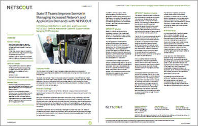 State IT Manages Network and Application Demands with NETSCOUT