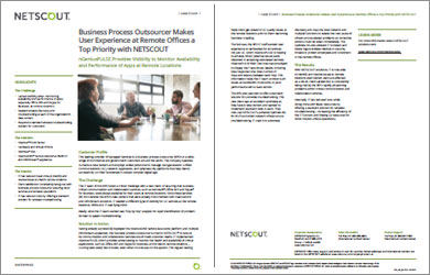 Business Process Outsourcer Improves User Experience at Remote Sites
