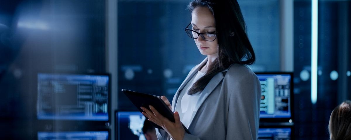 Digital Transformation - Woman on Tablet