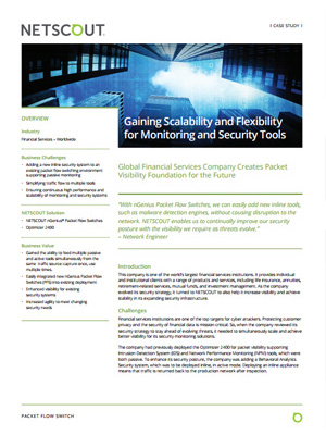 Gaining Scalability and Flexibility for Monitoring and Security Tools