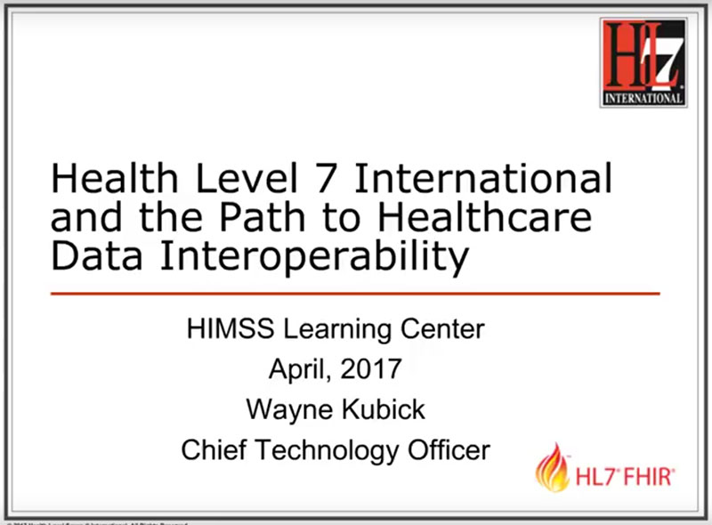 HL7: On the Path to Interoperability Video