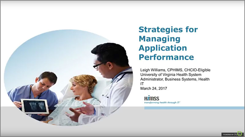 Improving Sluggish Application Performance in Healthcare