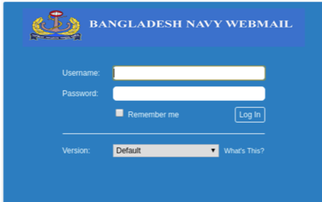 Bangladesh Navy Fake Login Page