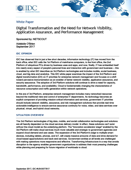 IDC Federal Cloud Whitepaper