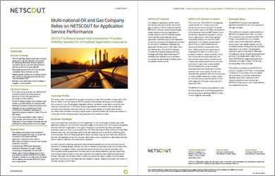 Global Oil & Gas Company Improves Application Service Performance
