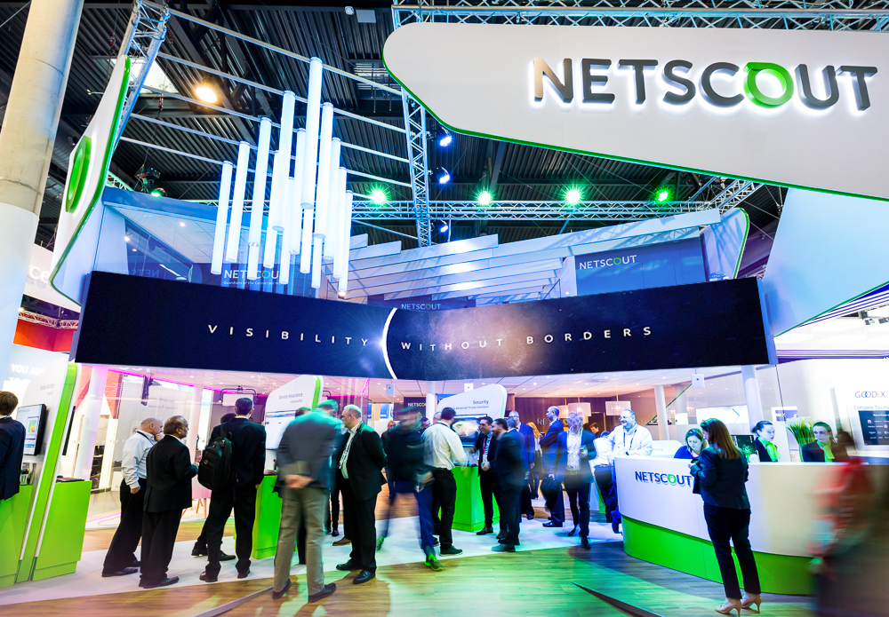 NETSCOUT tradeshow booth