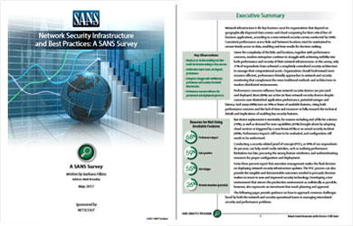 SANS Network Security Infrastructure Report