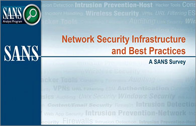SANS Network Security Infrastructure Survey Webinar