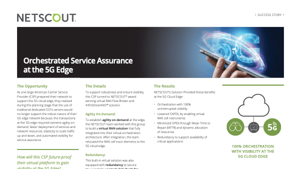 Orchestrated Service Assurance at the 5G Edge