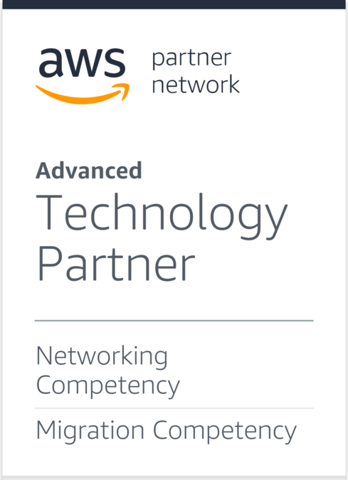 AWS Advanced Technology Partner - Networking Competency, Migration Competency