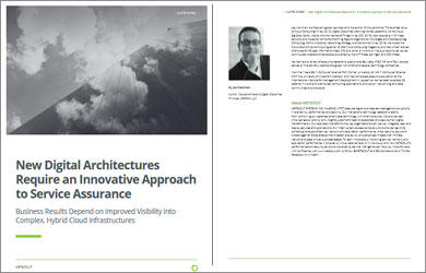 New Digital Architectures Require an Innovative Approach to Service Assurance