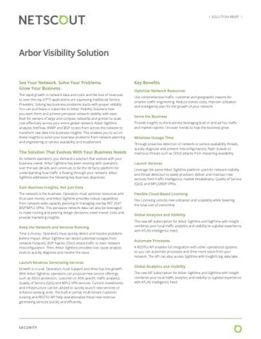 Solutions de visibilité Arbor