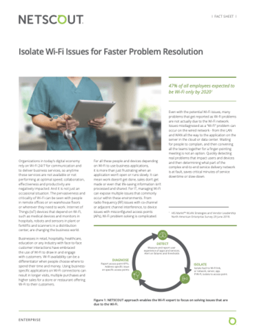 Fact Sheet: Isolate Wi-Fi Issues for Faster Problem Resolution