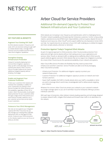 Arbor Cloud for Service Providers