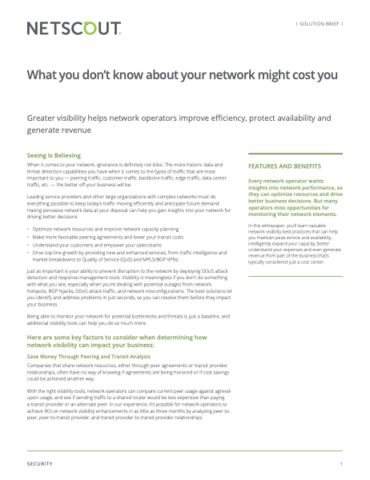 What you don't know about your network might cost you
