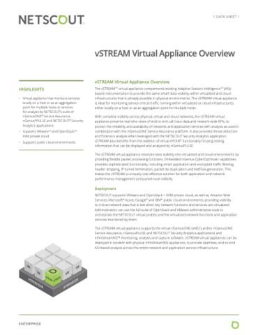 Visão geral do appliance virtual vSTREAM