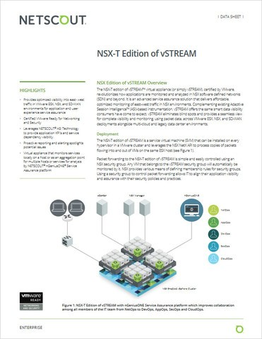 Edición NSX-T de vSTREAM