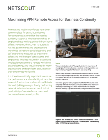Maximizing VPN Remote Access for Business Continuity