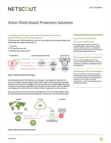 Arbor DDoS Attack Protection Solutions