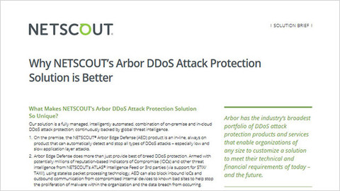 Why NETSCOUT Arbor DDoS Attack Protection Is Better