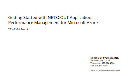 Getting Started Guide: Application Performance Management for Azure